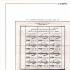 Sellos: 1991 HOJA 5 ESPAÑA FILABO EXPO 92 55+5 PTAS HOJA BLOQUE ESTUCHADO TRANSPARENTE. Lote 221233290