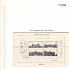 Sellos: 1989 HOJA 12 FILABO ESPAÑA PATRIMONIO ARTÍSTICO NACIONAL.ESTUCHADO TRANSPARENTE.. Lote 221255966