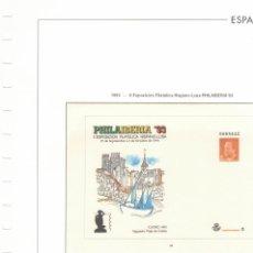 Sellos: 1993 HOJA SOBRES 20.PHILAIBERICA 93 ESTUCHADO TRANSPARENTE COLOR. Lote 221260938