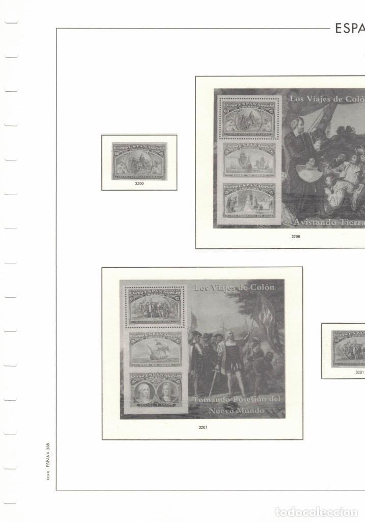 1992 HOJA ESPAÑA 338.LOS VIAJES DE COLON ESTUCHADO TRANSPARENTE (Sellos - Material Filatélico - Hojas)