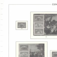 Sellos: 1992 HOJA ESPAÑA 338.LOS VIAJES DE COLON ESTUCHADO TRANSPARENTE. Lote 221313657