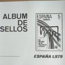 Sellos: ESPAÑA FOTOCOPIAS HOJAS AÑO 1979 ARCHIVOS SELLOS VARIAS CON ESTUCHES TRANSPARENTES CONFECCIONADOS. Lote 221551462