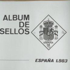 Sellos: ESPAÑA FOTOCOPIAS HOJAS AÑO 1983 ARCHIVOS SELLOS VARIAS CON ESTUCHES TRANSPARENTES CONFECCIONADOS. Lote 221552048