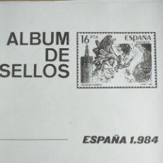 Sellos: ESPAÑA FOTOCOPIAS HOJAS AÑO 1984 ARCHIVOS SELLOS VARIAS CON ESTUCHES TRANSPARENTES CONFECCIONADOS. Lote 221552351