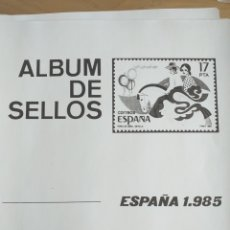 Sellos: ESPAÑA FOTOCOPIAS HOJAS AÑO 1985 ARCHIVOS SELLOS VARIAS CON ESTUCHES TRANSPARENTES CONFECCIONADOS. Lote 221552506