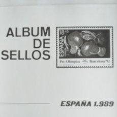 Sellos: ESPAÑA FOTOCOPIAS HOJAS AÑO 1989 ARCHIVOS SELLOS. Lote 221553492