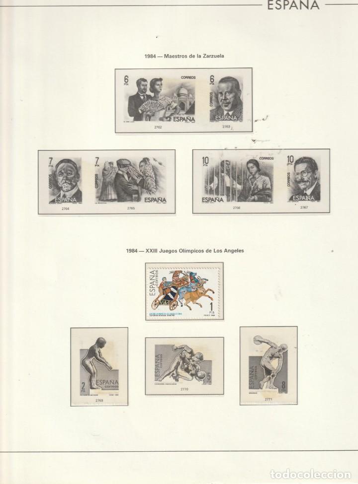 1983 EDIFIL 274 HOJA ESPAÑA.VARIAS SERIES.LISTA.ESTUCHADO TRANSPARENTE (Sellos - Material Filatélico - Hojas)