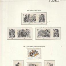 Sellos: 1983 EDIFIL 274 HOJA ESPAÑA.VARIAS SERIES.LISTA.ESTUCHADO TRANSPARENTE. Lote 221605746