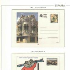 Sellos: 1994 HOJA 24 SOBRES ENTERO POSTALES. FILATELIA'94.ESTUCHADO TRANSPARENTE.COLOR. Lote 223426413