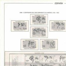 Sellos: HOJA 6.FILABO 1988 V CENTENARIO DEL DESCUBRIMIENTO DE AMÉRICA ESTUCHADO TRANSPARENTE.. Lote 223426508