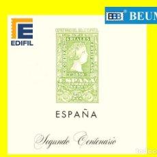 Sellos: SUPLEMENTOS EDIFIL 2º CENTENARIO. 1950-1964 MONTADOS EN TRANSPARENTE.. Lote 223675601
