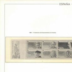 Sellos: HOJA 1986 EDIFIL ESPAÑA CARNETS 2 .V CENTENARIO DESCUBRIMIENTO DE AMÉRICA. Lote 223803748