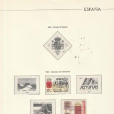 Sellos: 1982 EDIFIL 265 HOJA ESPAÑA.VARIAS SERIES.LISTA.ESTUCHADO TRANSPARENTE. Lote 228210245