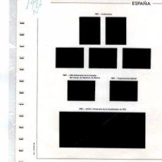 Sellos: SUPLEMENTO EDIFL 1987 MONTADO EN NEGRO CON FILOESTUCHES PRINZ SEGUNDA MANO. Lote 228610055