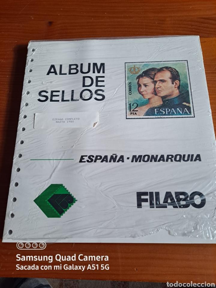 HOJAS SUPLEMENTO, FILABO, ESPAÑA MONARQUIA, HASTA 1980, COMPLETO, NUEVO, ÚNICO, VER (Sellos - Material Filatélico - Hojas)