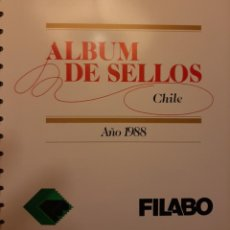 Sellos: SUPLEMENTO HOJAS FILABO. CHILE 1988.. Lote 233328450