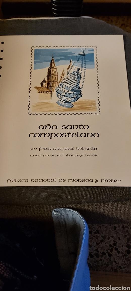 AÑO SANTO COMPOSTELANO. (Sellos - Material Filatélico - Hojas)