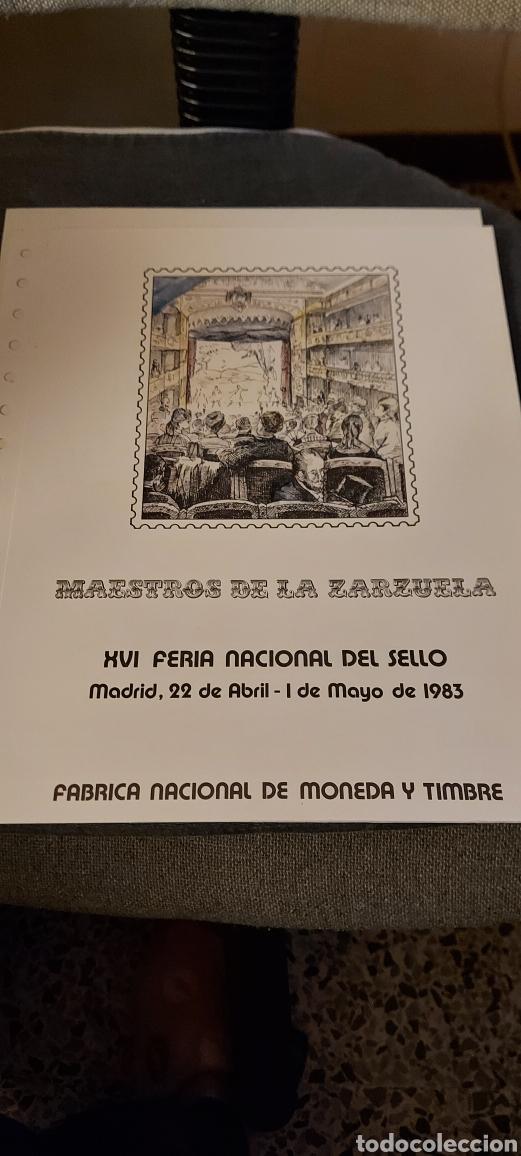 MAESTROS DE LA ZARZUELA. (Sellos - Material Filatélico - Hojas)