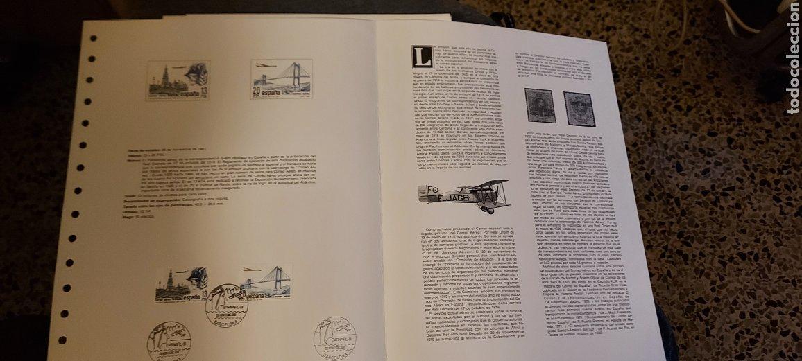 Sellos: Los Orígenes del Correo Aéreo en España. Barnafil 81. - Foto 2 - 234726290