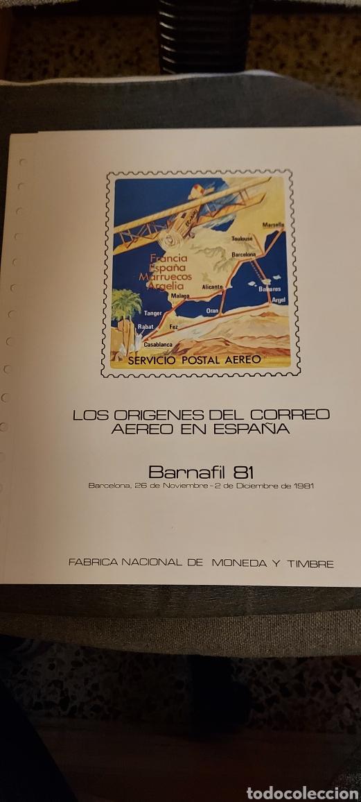 LOS ORÍGENES DEL CORREO AÉREO EN ESPAÑA. BARNAFIL 81. (Sellos - Material Filatélico - Hojas)