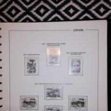 Sellos: HOJAS AÑO COMPLETO 1990 COMPLETO FILABO SELLOS MONTADAS TRANSPARENTE DE SEGUNDA MANO PERFECTO ESTADO. Lote 236006895