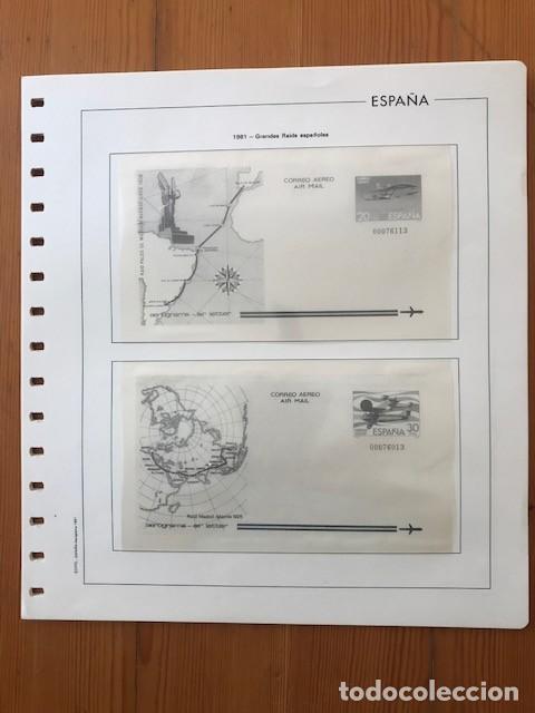 HOJAS EDIFIL, ESPAÑA, AEROGRAMAS, DEL 1981 AL 1998 (Sellos - Material Filatélico - Hojas)
