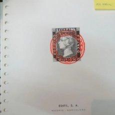 Sellos: ESPAÑA HOJAS DE ÁLBUM EDIFIL SUPLEMENTOS AÑOS 1850 AL 1930 (PARCIALMENTE MONTADAS EN NEGRO). Lote 236856555
