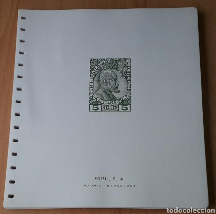 HOJAS EDIFIL PARA ÁLBUM DE SELLOS LIECHTENSTEIN 1912 A 1970 (Sellos - Material Filatélico - Hojas)
