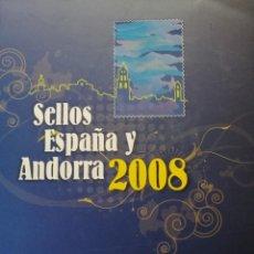 Timbres: ALBUM OFICIAL DE CORREOS SELLOS DE ESPAÑA Y ANDORRA 2008. INCLUYE SELLOS DE EMISIÓN CONJUNTA.. Lote 240228435
