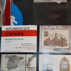 Sellos: 2019 ESPAÑA SUPLEMENTO EDIFIL PRUEBAS OFICIALES MONTADAS ESTUCHE NEGRO DISTRIBUIDOR. Lote 245014065