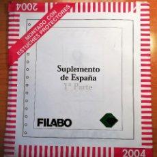 Sellos: HOJAS DE SELLOS ÁLBUM FILABO CON FILOESTUCHES TRANSPARENTES DEL 2004. Lote 245955950