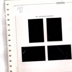 Timbres: SUPLEMENTO EDIFIL 1975 BLOQUE DE CUATRO MONTADO NEGRO SEGUNDA MANO. Lote 248187945