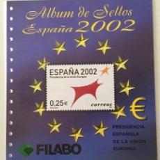 Sellos: 2002-ESPAÑA HOJAS FILABO NUEVAS CON FILOESTUCHE AÑO 2002 1ª PARTE - VER FOTOS -. Lote 252612195