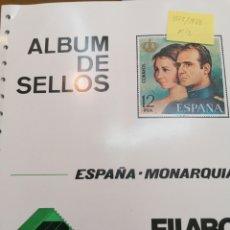 Francobolli: ESPAÑA HOJAS DE ÁLBUM FILABO SUPLEMENTOS MONTADOS EN NEGRO AÑOS 1975 AL 1986. Lote 254355620
