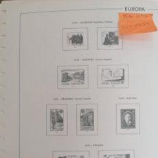 Sellos: TEMA EUROPA CEPT HOJAS DE ÁLBUM EDIFIL SUPLEMENTO SIN MONTAR AÑO 1979 (NUEVO). Lote 254892170