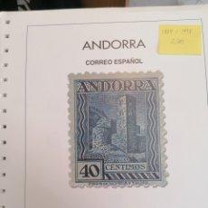 Sellos: ANDORRA ESPAÑOLA HOJAS DE ÁLBUM ANFIL SIN MONTAR AÑOS 1875 AL 1998 (NUEVO). Lote 254898740
