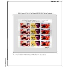 Sellos: SUPLEMENTO DE ESPAÑA 2004 ANILLA REDONDA MONTADO EN NEGRO CON FILOESTUCHES PRINZ NUEVO A ESTRENAR. Lote 255475970