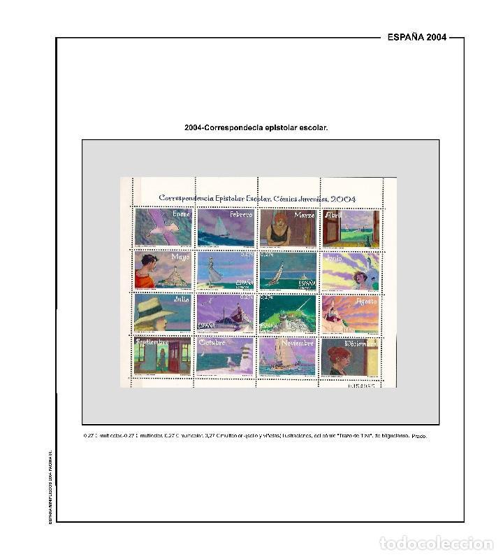 Sellos: SUPLEMENTO DE ESPAÑA 2004 ANILLA REDONDA MONTADO EN NEGRO CON FILOESTUCHES PRINZ NUEVO A ESTRENAR - Foto 4 - 255475970