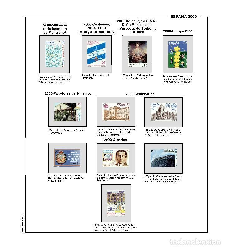 Sellos: SUPLEMENTO DE ESPAÑA 2000 ANILLA ELIPTICA MONTADO EN BLANCO CON FILOESTUCHES PRINZ NUEVO A ESTRENAR - Foto 3 - 255478940