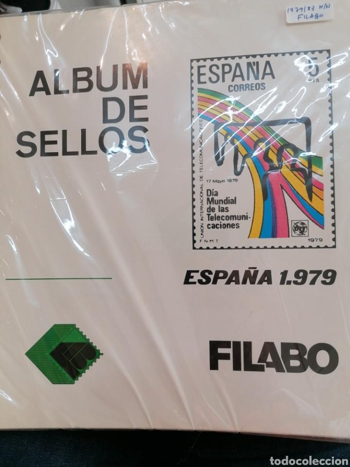 ESPAÑA HOJAS DE ÁLBUM FILABO MONTADAS EN NEGRO AÑOS 1979 AL 1983 (Sellos - Material Filatélico - Hojas)