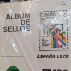 Sellos: ESPAÑA HOJAS DE ÁLBUM FILABO MONTADAS EN NEGRO AÑOS 1979 AL 1983. Lote 255497860