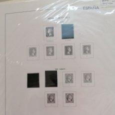 Selos: ESPAÑA HOJAS DE ÁLBUM FILABO/EDIFIL MONTADAS PARCIALMENTE EN NEGRO AÑOS 1850 AL 1930. Lote 255499885