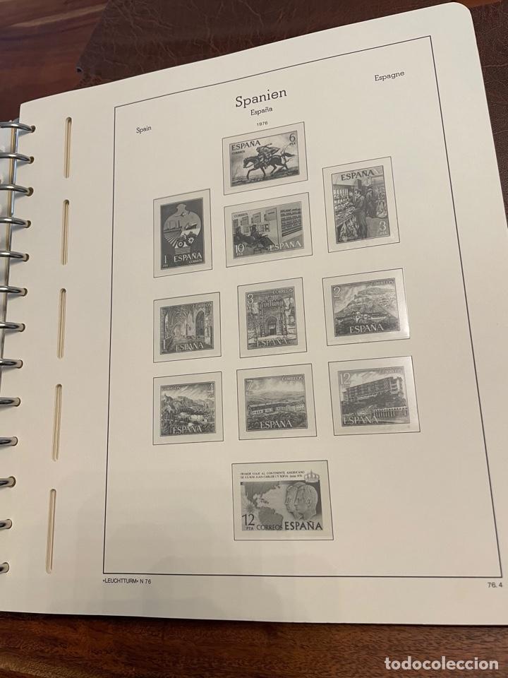 Sellos: Álbum y Hojas Leuchtturm Sellos España 1976 a 1986 - Foto 2 - 255556160