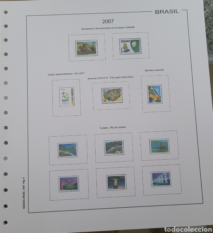 Sellos: Hoja de sellos año 2007 sin filoestuches - Foto 3 - 257656090