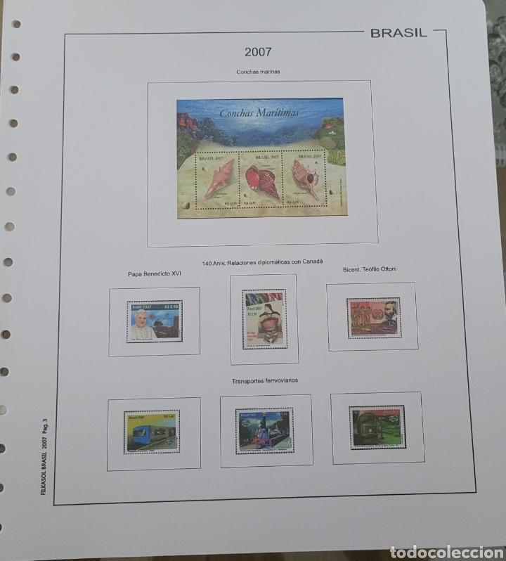 Sellos: Hoja de sellos año 2007 sin filoestuches - Foto 4 - 257656090