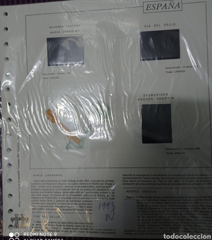 SUPLEMENTO TORRES 1993 MONTADO NEGRO SEGUNDA MANO (Sellos - Material Filatélico - Hojas)