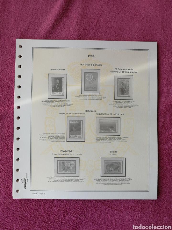 Sellos: MATERIAL FILATELICO : HOJAS EFILCAR AÑO 2002 COMPLETO (LEER DESCRIPCIÓN) - Foto 7 - 175205593