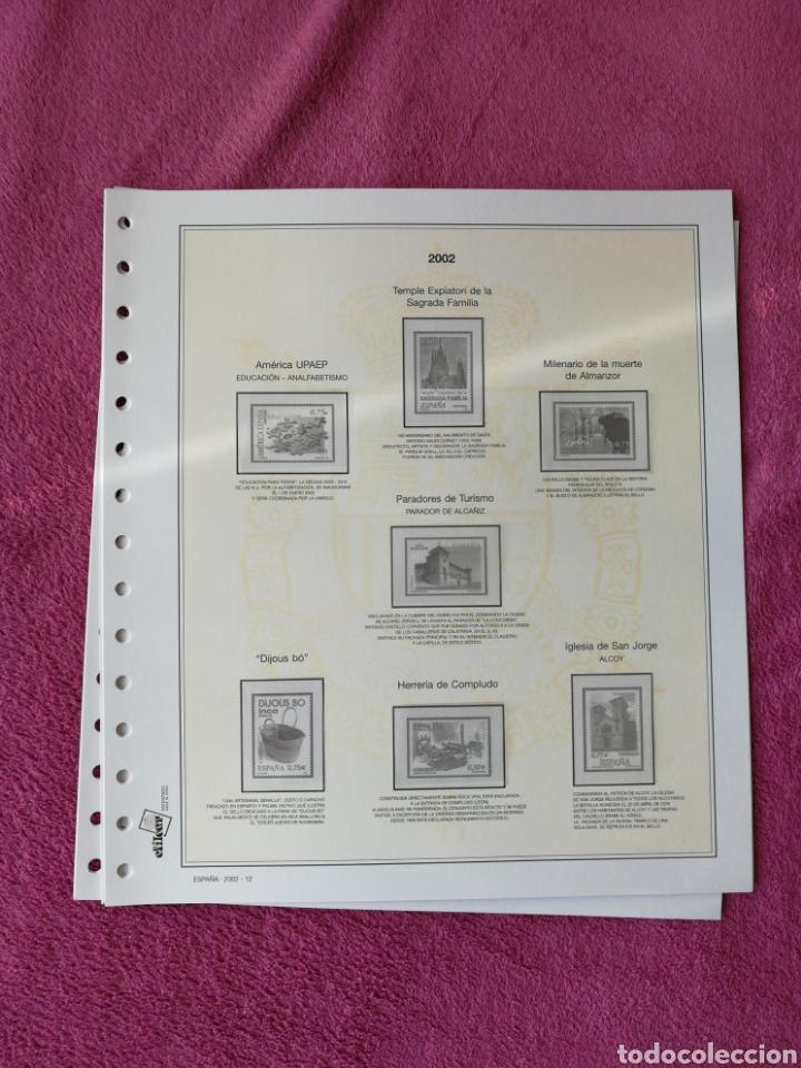 Sellos: MATERIAL FILATELICO : HOJAS EFILCAR AÑO 2002 COMPLETO (LEER DESCRIPCIÓN) - Foto 17 - 175205593