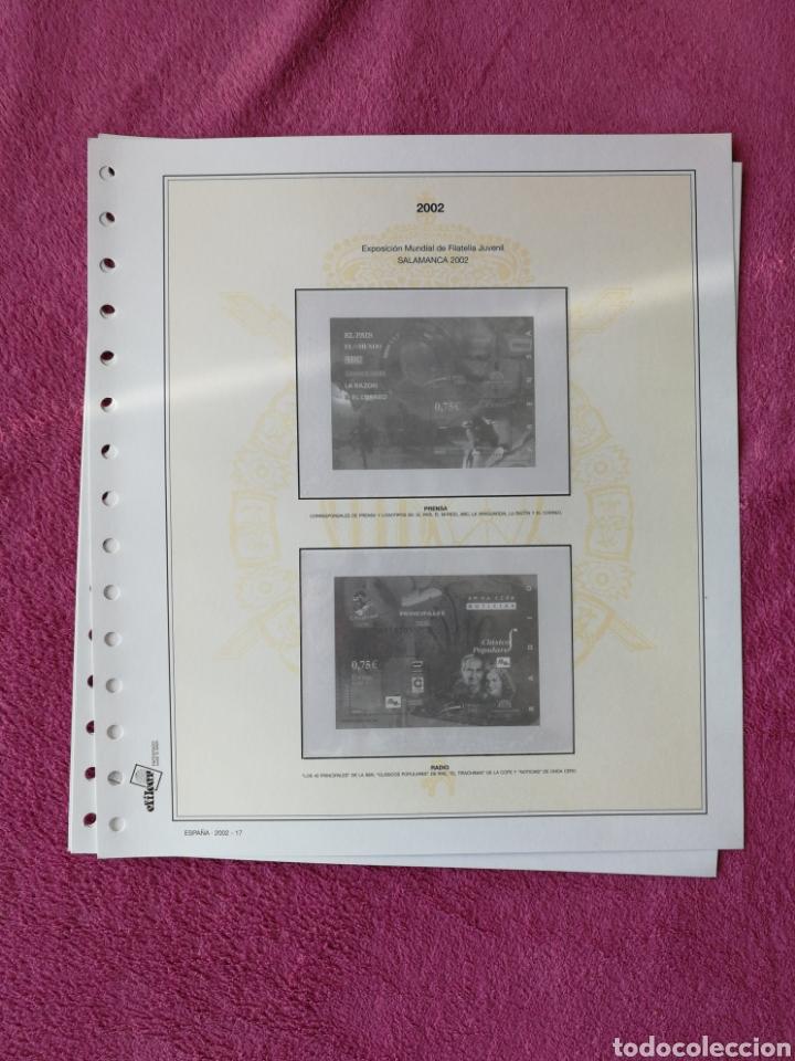 Sellos: MATERIAL FILATELICO : HOJAS EFILCAR AÑO 2002 COMPLETO (LEER DESCRIPCIÓN) - Foto 21 - 175205593