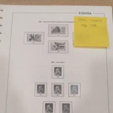 Francobolli: HOJAS DE ÁLBUM ORIGINALES EDIFIL SUPLEMENTO AÑOS 1986 AL 1988 MONTADAS EN TRANSPARENTE SEGUNDA MANO. Lote 266112708